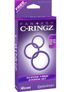 Silicone 3 Ring Stamina Set