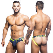 CoolFlex Brief Jock w/ Show-It, tummansininen
