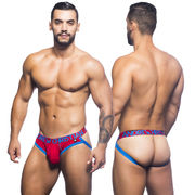 CoolFlex Brief Jock w/ Show-It, punainen